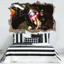 Vinile e adesivi 3d capitano america guerra civile