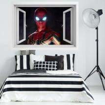 Vinili finestra 3d spider-man lontano da casa