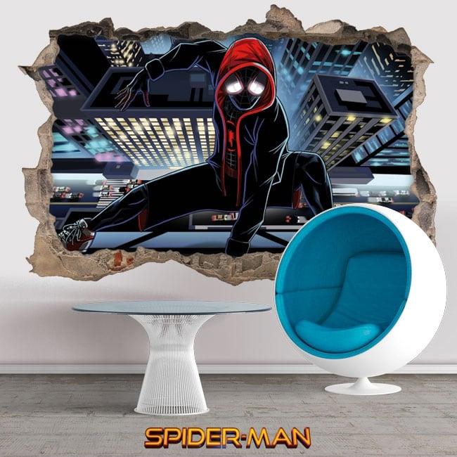Vinile e adesivi 3d spider-man un nuovo universo