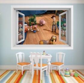 Vinile per bambini finestra storia del giocattolo 4