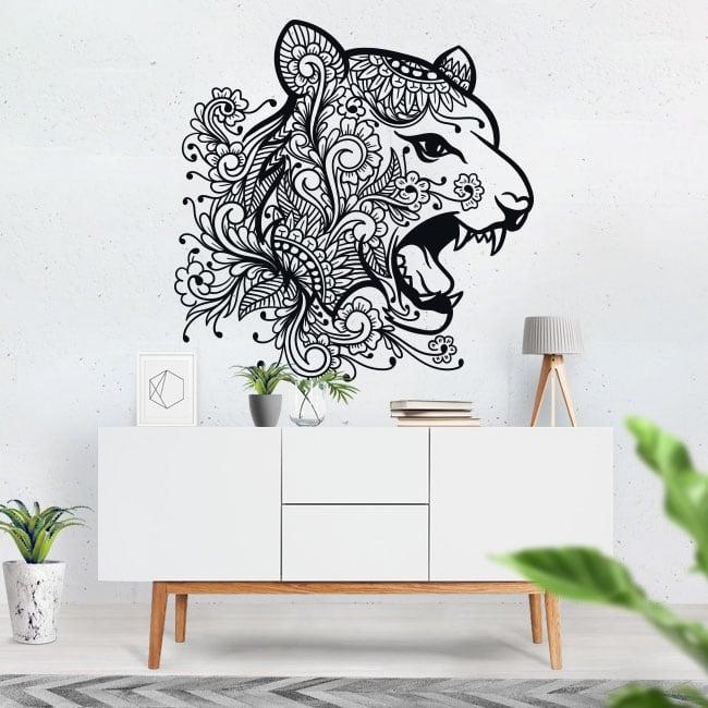 Vinile e adesivi testa di tigre tribale