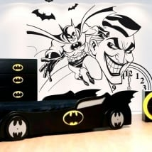 Adesivi di vinile decorativo batman e joker