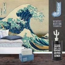 Murales in vinile tsunami o la grande ondata