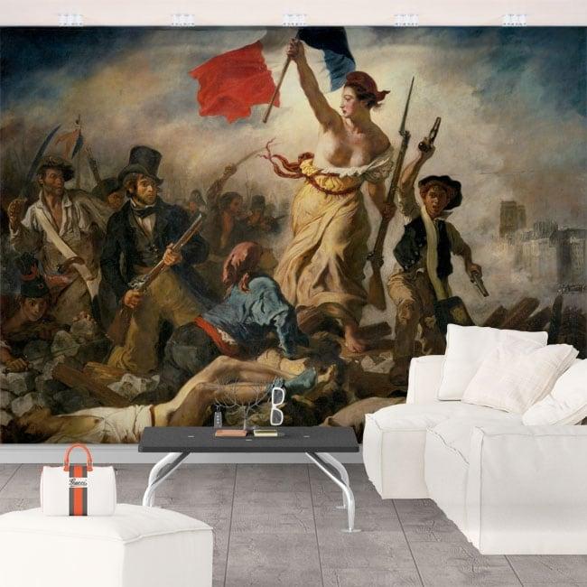 Murales eugène delacroix la libertà guida le persone