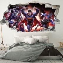 Adesivi murali 3d superman crisi infinita