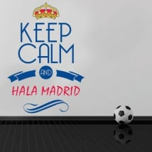 Vinile decorativo calcio keep calm e hala madrid