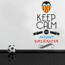 Adesivi in vinile calcio keep calm and amunt valència