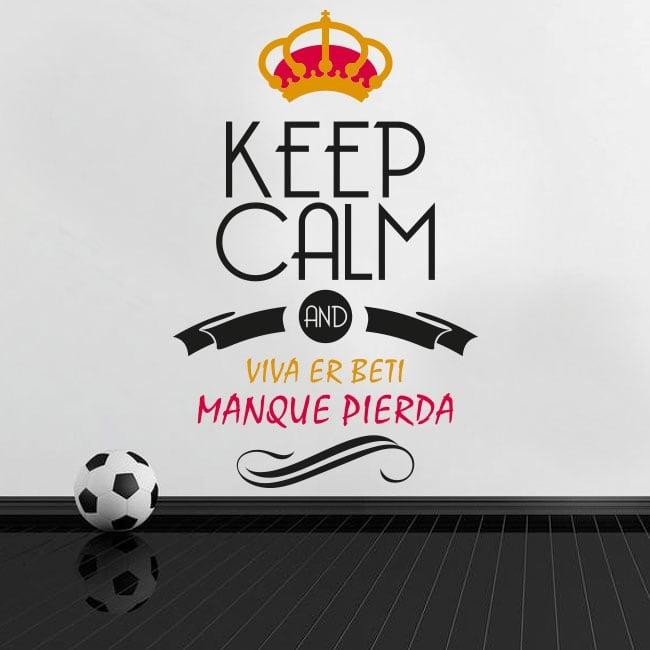 Adesivi calcio keep calm and viva er beti manque pierda