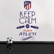 Adesivi in vinile keep calm and aúpa atleti
