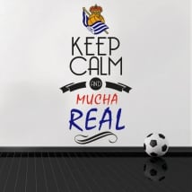 Adesivi vinili di calcio keep calm and mucha real