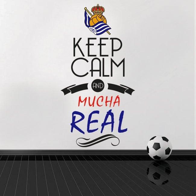 Adesivi vinili di calcio keep calm and mucha real