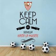 Adesivi calcio keep calm and sevilla hasta la muerte
