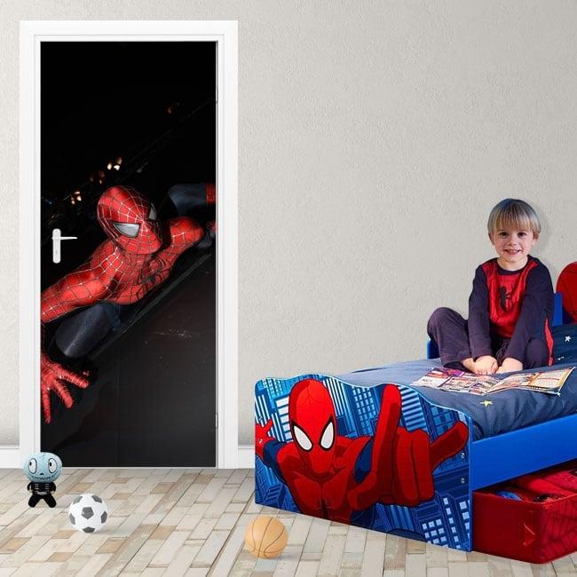 Vinile decorativo e adesivi per porte spiderman