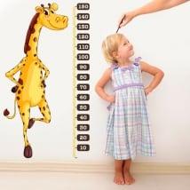 Vinile e adesivi misuratore di altezza giraffa per bambini