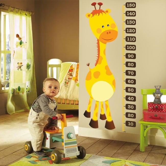 Adesivi in vinile misuratore di altezza giraffa