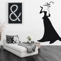 Vinile decorativo silhouette di donna con glamour