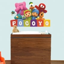 Adesivi decorativi per bambini o baby pocoyo