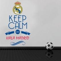 Vinili calcio keep calm and hala madrid