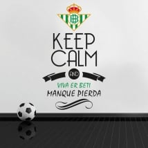 Vinili calcio keep calm and viva er beti manque pierda