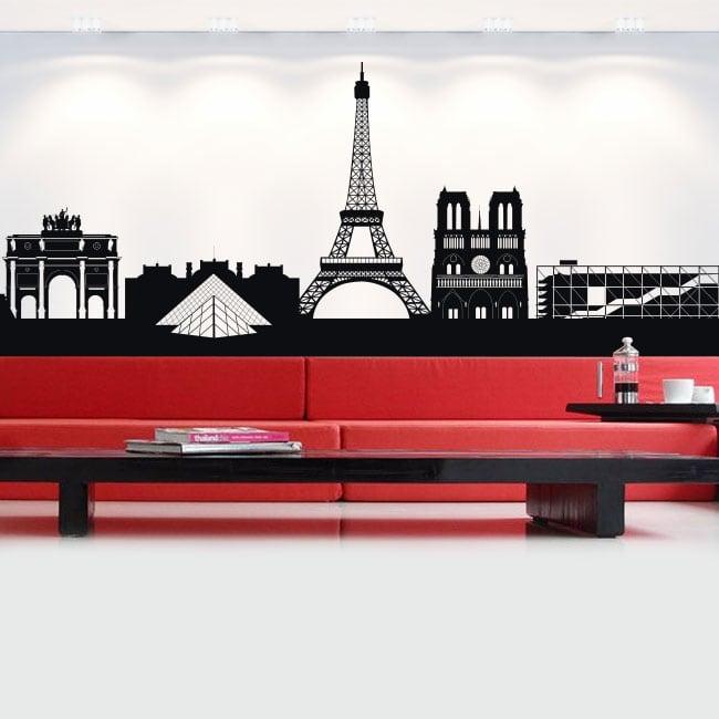 Vinile e adesivi skyline della francia