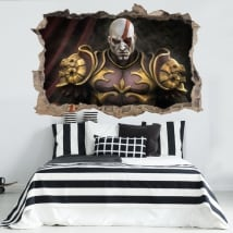 Vinili e adesivi 3d kratos god of war throne