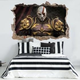 Vinili e adesivi 3d kratos god of war throne