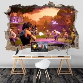 Adesivi e vinili videogiochi fortnite 3d