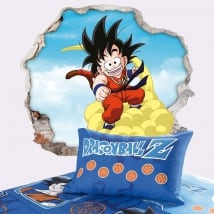 Vinile decorativo dragon ball son goku 3d