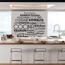 Vinile e adesivi cucina in diverse lingue