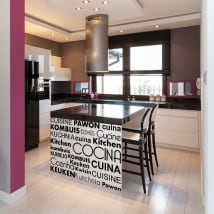 Vinile decorativo cucina in diverse lingue