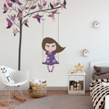 Vinile decorativo e adesivi dondolarsi sull'albero
