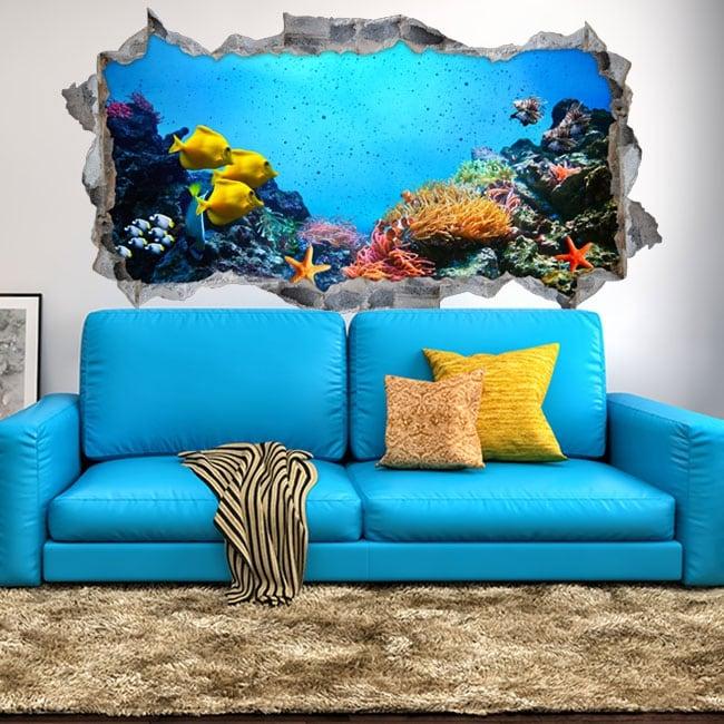 Vinile decorativo e adesivi 3d mondo marino