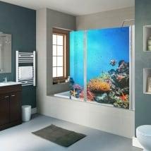 Vinili schermi mondo marino barriera corallina