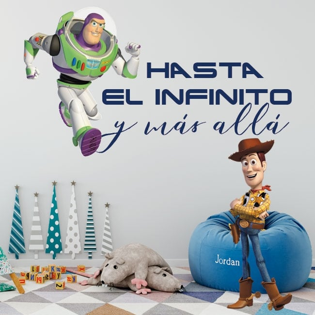 Vinile per bambini toy story frase buzz lightyear