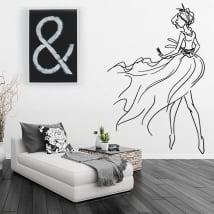 Vinile decorativo e adesivi silhouette di donna