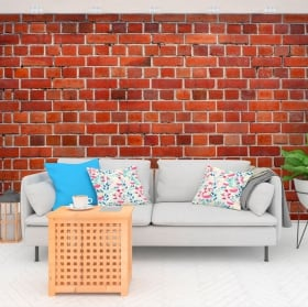 Murales in vinile con mattoni