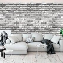 Murales con effetto mattoni
