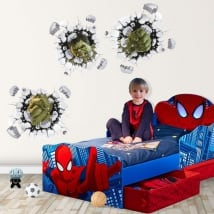 Vinili bambini o giovani marvel hulk 3d