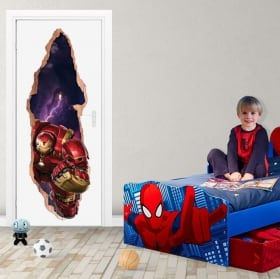 Vinili marvel porte 3d iron man