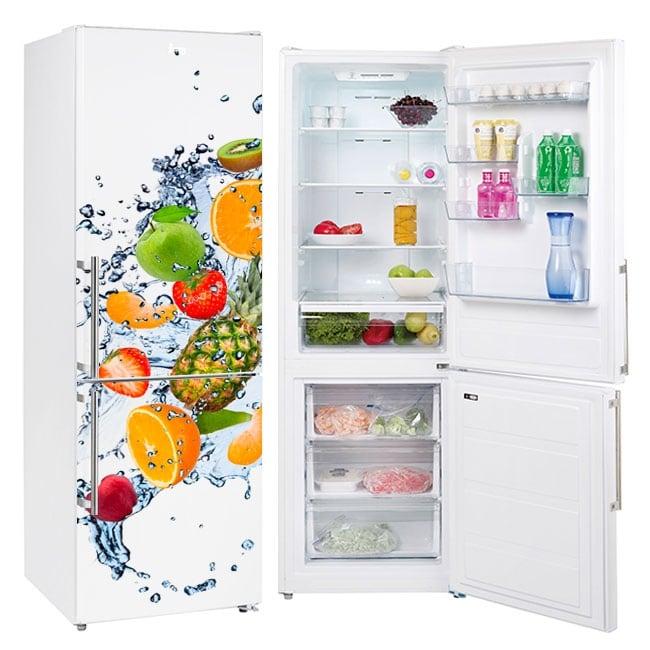 Vinili per frigoriferi frutta e spruzzi d'acqua
