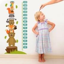 Vinile e adesivi animali misuratore di altezza bambino