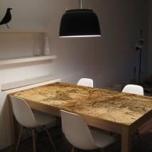 Vinile per tavoli e mobili mappa del mondo