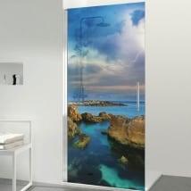 Vinili per schermi da bagno raggi in mare