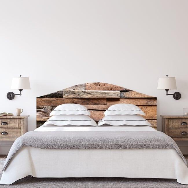 Vinili testiere letti struttura di legno rustica