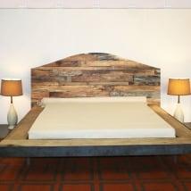 Vinile e adesivi testiere letti legno rustico