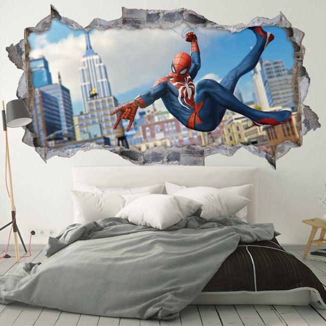 Adesivi murali 3d spider-man
