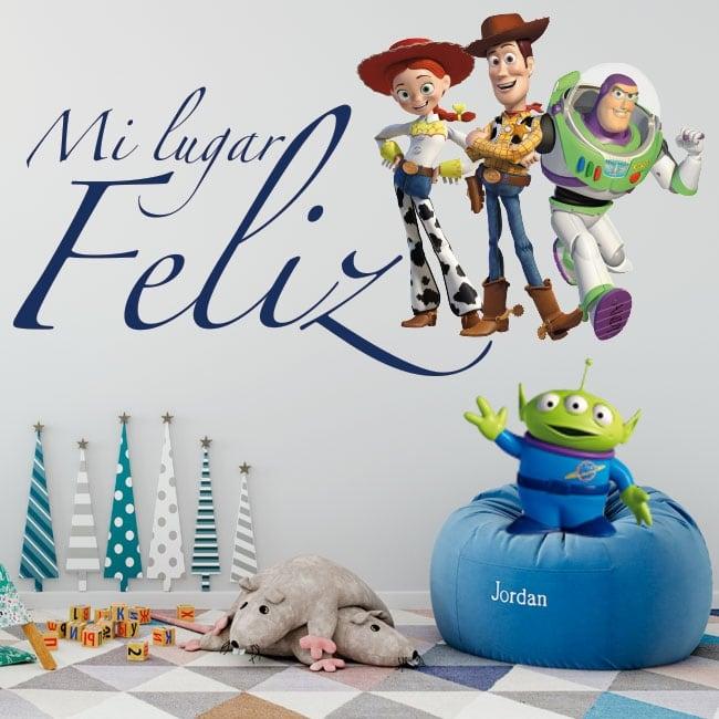 Vinile per bambini toy story il mio posto felice