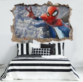 Sticker murale spiderman 3d