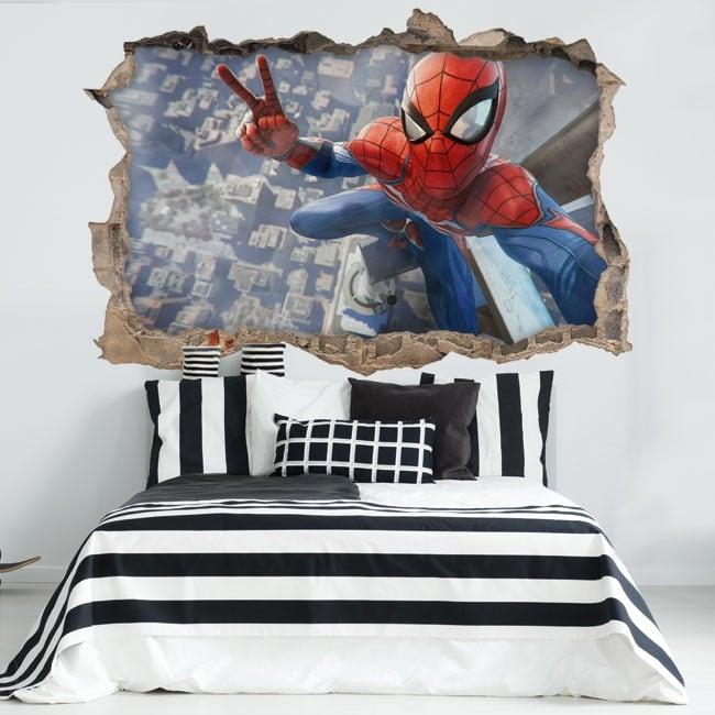 Adesivi decorativi 3d spiderman selfie