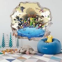 Vinile decorativo 3d videogioco the legend of zelda